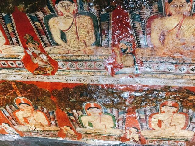 Sri Lanka Jasmine Tours & Drivers スリランカジャスミンツアーズ撮影。 マルキリガラ寺院 マルキリガラ遺跡 ムルキリガラ の壁画